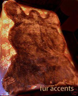 Newly listed 9 PLUSH LIFE SZ BROWN BEAR SKIN PELT RUGS FAUX FUR LOG