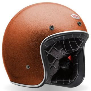 Bell Custom 500 Vintage Motorcycle Helmet Orange Medium