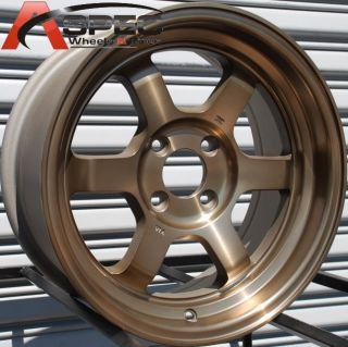 ROTA GRID V 15X7 4X100 ET20 67.1 SPORT BRONZE WHEELS
