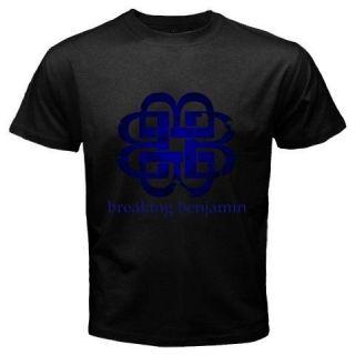 New Breaking Benjamin Logo Tattoo Alternative Rock Band Black T Shirt