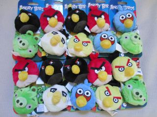 Angry Birds Plush Bean Bag Toss Beanies Various, Choose your Pair
