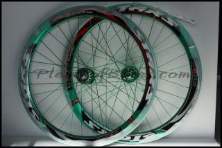 Deep V Fixie Single Speed Bike Wheelset Wheels Rim Rims Green 614108