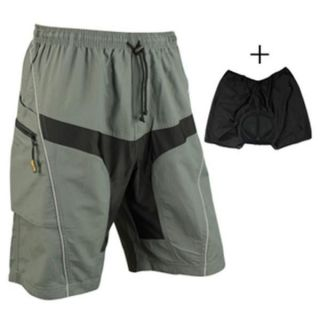 2012 New Loose Fit Cycling Bicycle Bike MTB Shorts 3D Padded M 2XL
