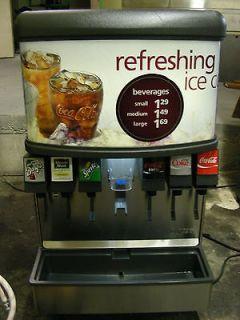 Lancer IBD 4500 22 6 head fountain soda machine & ice dispenser W