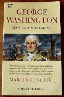 Washington Man and Monument 1960 PB by Marcus Cunliffe Biography Good