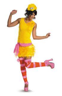 Sesame Street Big Bird Sassy Adult Costume size12 14