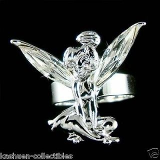 Crystal Fairy Angel Wings Tinkerbell Tinker Bell Adjustable Ring NEW