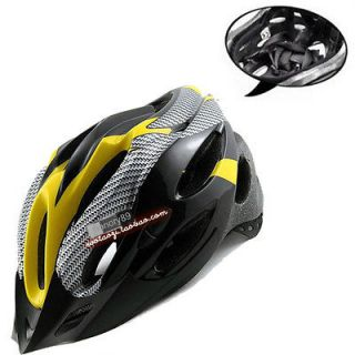 NEW Cycling Bicycle Adult Mens Bike Helmet yellow carbon colour With