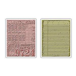 Texture Fades Embossing Folders 2PK   Collage & Notebook Set NIP