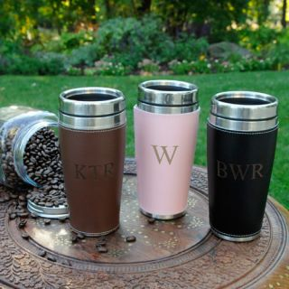 personalized travel mugs in Home & Garden