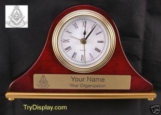 Masonic Past Master 04 Mason Desk Set Clock Gift Mantle
