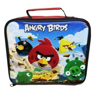 Angry Birds Rectangular OFFICIAL Lunch School Bag Box Insulated NEW