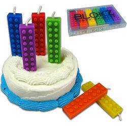 12+) Blokz CANDLES + LEGO Policeman MINIFIG! Birthday Party Cake