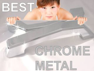 H2 Front Hood Grill Grille Handles Pull Bars Chrome Billet Aluminum 2