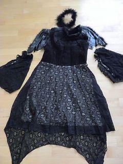 Womens Dark Angel black lace halloween costume (6 8)