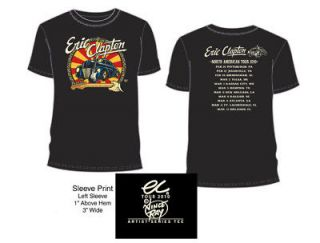 Newly listed ERIC CLAPTON 2010 TOUR T SHIRT BLACK CAR XL