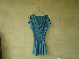 Black Halo size 2 aqua blue silk dress