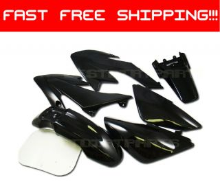BLACK Plastic Kit Honda XR50 CRF50 POCKET PIT DIRT BIKE