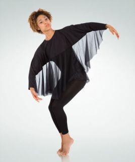 Black Angel Wings Shrug Dance Costume ASM Dragon Bird