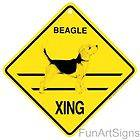 SIBERIAN HUSKY DOG Yellow Crossing Xing Sign NEW