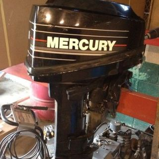 Hp Mecury Outboard Engine Jon Boat Runs Great Boat Motor Late Model
