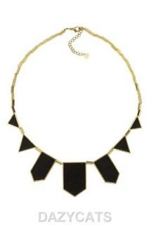 House of Harlow 1960 Nicole Richie gold plated black leather necklace