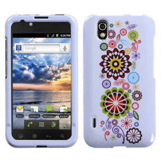 BOOST MOBILE LG MARQUEE LS855 SNAP ON CASE HARD COVER SMILE SUNFLOWER