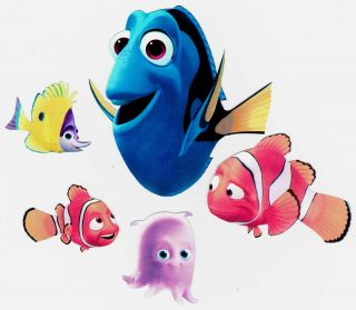 DISNEY FINDING NEMO PEEL & STICK WALL BORDER CUT OUT CHARACTER