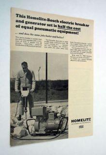 Homelite Bosch Electric Breaker & Generator jack hammer