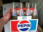 Vintage (8) Pack 1980S Pepsi 16oz Glass Bottles paper carton carrier