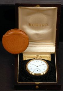 Keystone) Series 7 12 Size 14K Solid Gold Pocket Watch w/BOX & PAPER