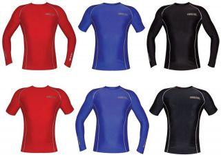 Boys Girls Mens Ladies Rashie Rash Vest Swim Shirts Top Guards