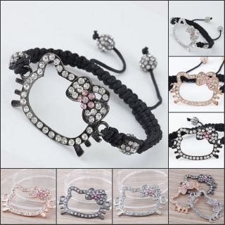 Charm bracelet with hello kitty charm and cancer charm 10 charms all