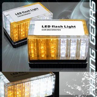 & Amber LED Magnetic Roof Top Strobe Light VW Jetta Golf GTI Beetle