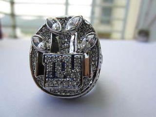 YORK GIANTS SUPER BOWL RING NFL REPLIA WORLD CHAMPIONSHIP RING 11 SIZE