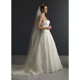 Tier Cathedral Cut/No Edge Wedding Bridal Veil