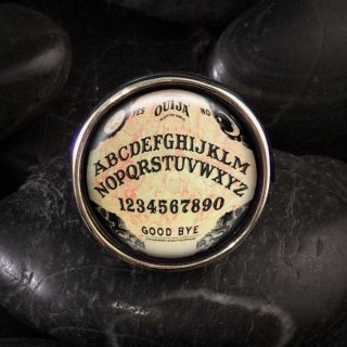 Ouija Board Sterling Silver Ring Adjustable RR 415