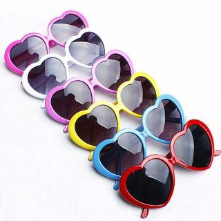 Retro Funny Summer Love Heart Shape Lolita Sunglasses Sun Glasses Gift
