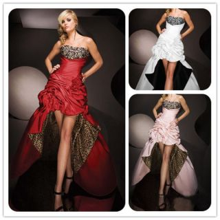 Stock Leopard Wedding Evening Dress Prom Ball Gown Size* 6 8 10 12 14
