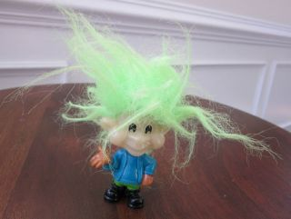 Burger King 1993 Troll Doll with Lime Green Hair 2.9