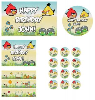 Angry Birds Personalized Custom Edible Cake Images Toppers Decorations