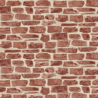 Brick Work Effect Red Textured Feature Wallpaper 20899