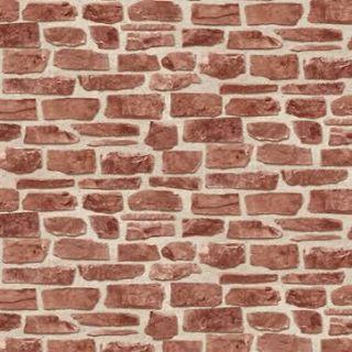 Brick Work Effect Red Textured Feature Wallpaper 20899