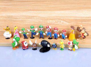 Lot 18 New Super Mario bros 1 2.5 MARIO Figure Toy TG0155 H