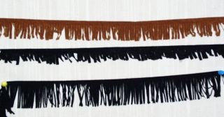 Brown Suede Fringe~1.5 ,1.25 or 2 Sold by the Yard~New~Ships Free