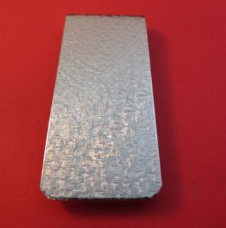 Newly listed MENS 14KT WHITE GOLD EP BRUSHED CRISS CROSS MONEY CLIP  B