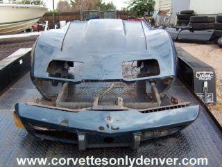 1975 1979 Corvette Front Clip, Fenders, Hood, Bumper & Bumper Cover