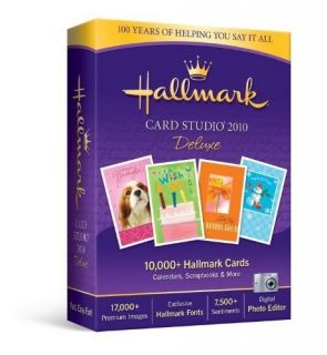 Hallmark Card Studio DELUXE 2010 XP VISTA WINDOWS 7