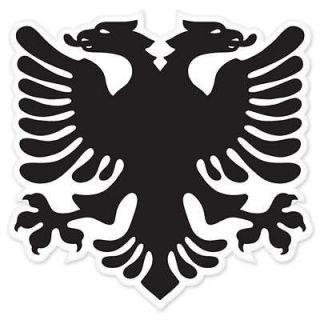 Albanian Eagle Flag car bumper sticker window decal 5 x 5