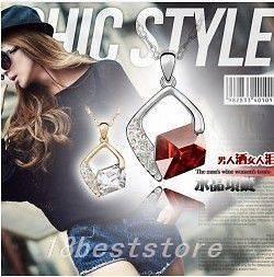 Hot Selling Noble Fashion Swarovski Crystal Penadant Necklace 6colour